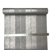 76053 Striped Silver Metallic Gray Wallpaper