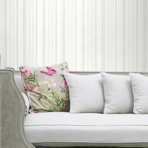 2547-01 Paintable White Stripe Textured Wallpaper