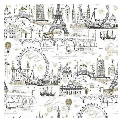 KI0584 Novelty Euro Scenic Prepasted SureStrip Wallpaper
