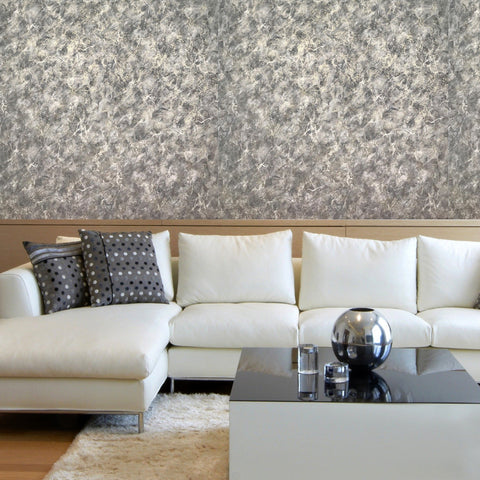 V509-03 Gray Gold Marble Wallpaper