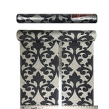 175000 Silver Flock Gray Damask Velvet Portofino Wallpaper