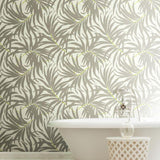 AT7054 Bali Leaves Sure Strip Wallpaper - wallcoveringsmart