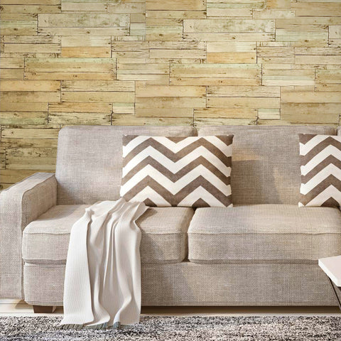 5564-05 Rustic Distressed Wood Barn Brown Wallpaper