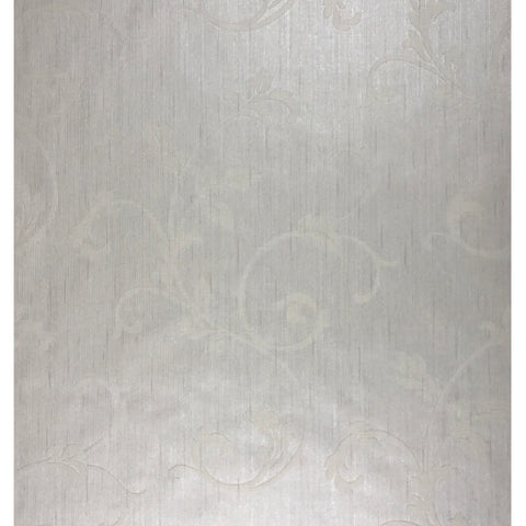 175011 White Ivory Flock Portofino Wallpaper