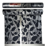 135050 Gray Blue Flock Velvet Portofino Wallpaper