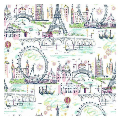 KI0586 Novelty Euro Scenic Prepasted SureStrip Wallpaper