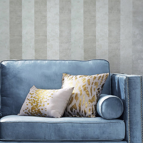 75907 Grey Taupe Striped Textured Wallpaper