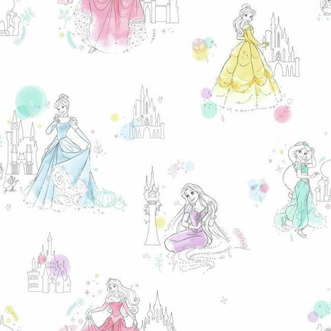 DI0968 York Disney Wallpaper Princess Pretty Elegant Unpasted Wallcoverings