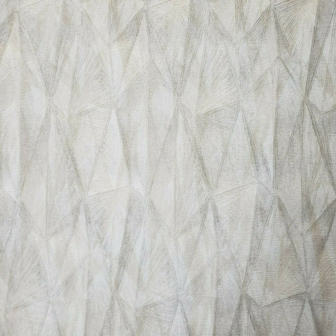 Z44535 Zambaiti ivory gray metallic geometric triangles diamond lines Wallpaper