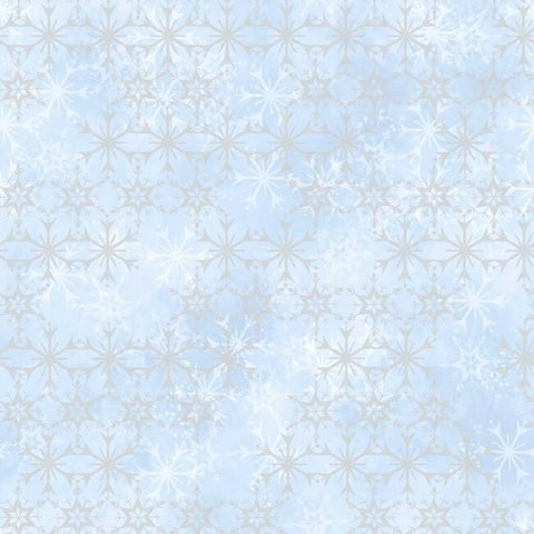 DI0960 York Disney Frozen 2 Snowflake Unpasted Blue Wallpaper