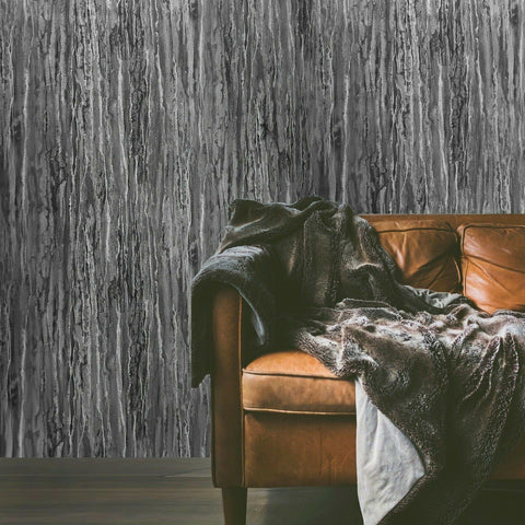 M16026 Zambaiti gray black textured industrial rusted faux carbon fiber Wallpaper