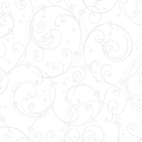 DI0906 York Disney Princess Perfect Scroll Unpasted White Wallpaper