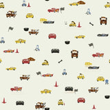 DI0922 York Disney and Pixar Cars Racing Spot Unpasted Almond Wallpaper