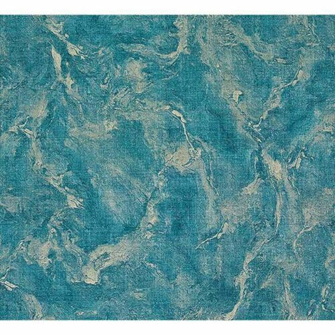 M5645 Murella Marble Vinyl Blue gold metallic faux fabric texture Wallpaper textured