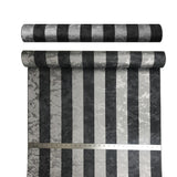 300061 Charcoal Silver Striped Wallpaper