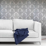 8102-06 paper Wallpaper old Vintage damask gray textured 3D