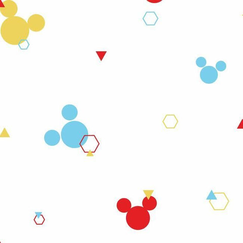 DI0930 York Disney Mickey Mouse Geo Unpasted Primary Wallpaper