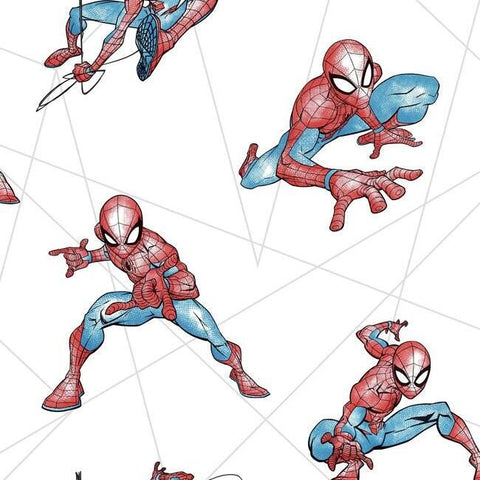 DI0939 York Wallpaper Spider-Man Fracture Unpasted Primary Wallcoverings