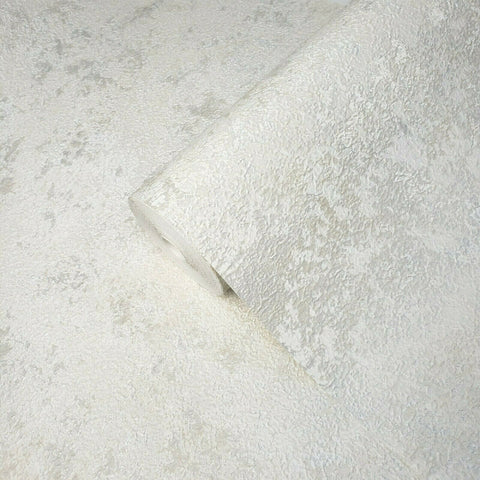 Z63046 Zambaiti Plain foil off white silver metallic faux crushed silk Wallpaper