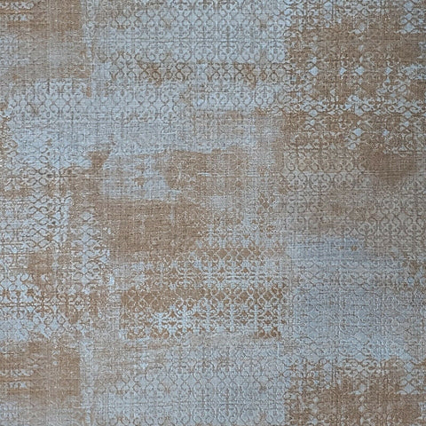 M5663 Murella Blue Gray bronze metallic vintage Rug carpet Moroccan Wallpaper