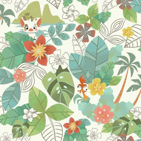 York DI0995 Wallpaper Disney Moana Jungle Unpasted Vintage Wallcoverings