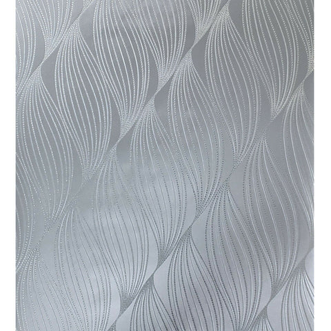 WM70302001 Geometric wave lines silver metallic Textured modern Wallpaper