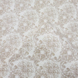 V303-05 Cream Beige Small Print Damask Wallpaper