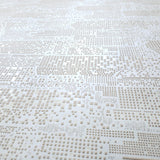 1211-05 Town City Graphic Yellow White Wallpaper