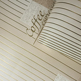 C765-01 Gold Metallic Cream Stripped Wallpaper