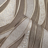 8562-12 Wave Brown Cream Gold Wallpaper