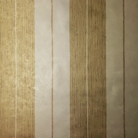 76060 Gold Striped Metallic Textured Wallpaper