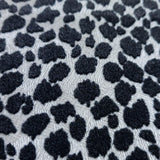 115020 Flocked White Black Spot Dot Animal cheetah Flock Wallpaper - wallcoveringsmart