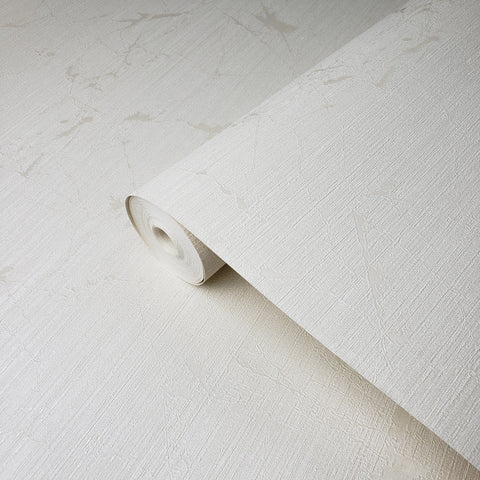 165042 Plain Ivory off White Cream Textured Wallpaper