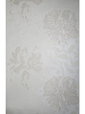 165047 Floral Peony Cream Beige Flock Wallpaper