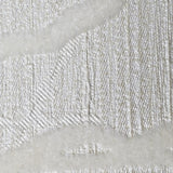165005 Wallpaper off white Velvet flocked Textured tree leaves 3D