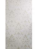 165033 Flock White Cream Victorian Damask Wallpaper