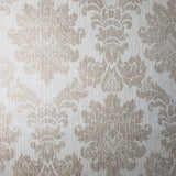 75703 yellow beige Cream Faux Grasscloth wallpaper Textured gold damask