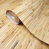 WM0120 Bamboo Planks Sticks Natural Brown Wallpaper