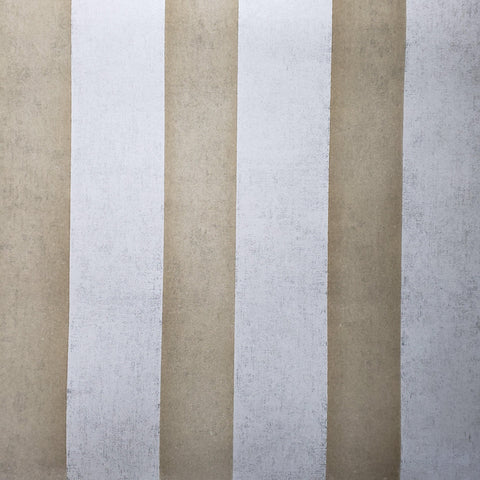 225020 Portofino Champagne beige Gold Velvet Flocked Striped Wallpaper