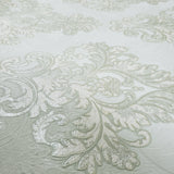 7070-04 gray green metallic textured Vintage Damask 3D Wallpaper
