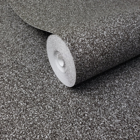 WM606690 Faux Mica Vermiculite Imitation Gray Charcoal Wallpaper - wallcoveringsmart