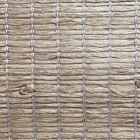 63-54706 Wallpaper Real Natural Grasscloth silky Xiao Hong Light walnut Brown - wallcoveringsmart