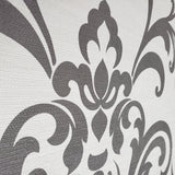 WM8801401 White Gray damask textured faux grasscloth texture wallpaper - wallcoveringsmart
