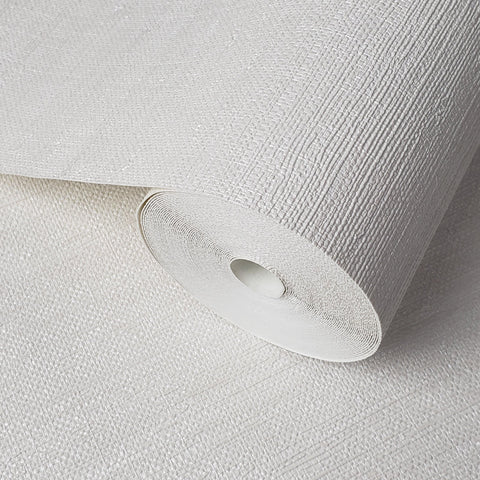 WM8800001 Modern Wallpaper Off White Cream faux grasscloth lines textured - wallcoveringsmart