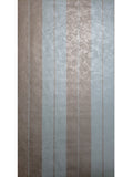76057 Wallpaper green Silver bronze Metallic Striped