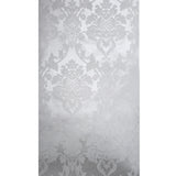 225002 White Pearl Metallic Flock Damask Wallpaper