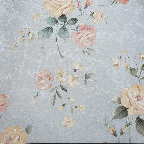 78028 Floral Silver Metallic Textured Wallpaper - wallcoveringsmart