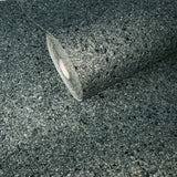 M4018 Modern Teal Blue Big Chip Natural Real Mica Stone Wallpaper Plain Textured - wallcoveringsmart