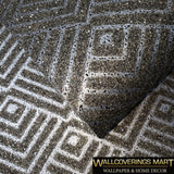 I213 Mica Vermiculite Gray silver Arthouse Geometric triangle Natural Wallpaper - wallcoveringsmart