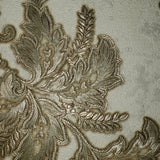 8578-05 Wallpaper Oriental Scenic Asian Ivory Gold Metallic textured - wallcoveringsmart